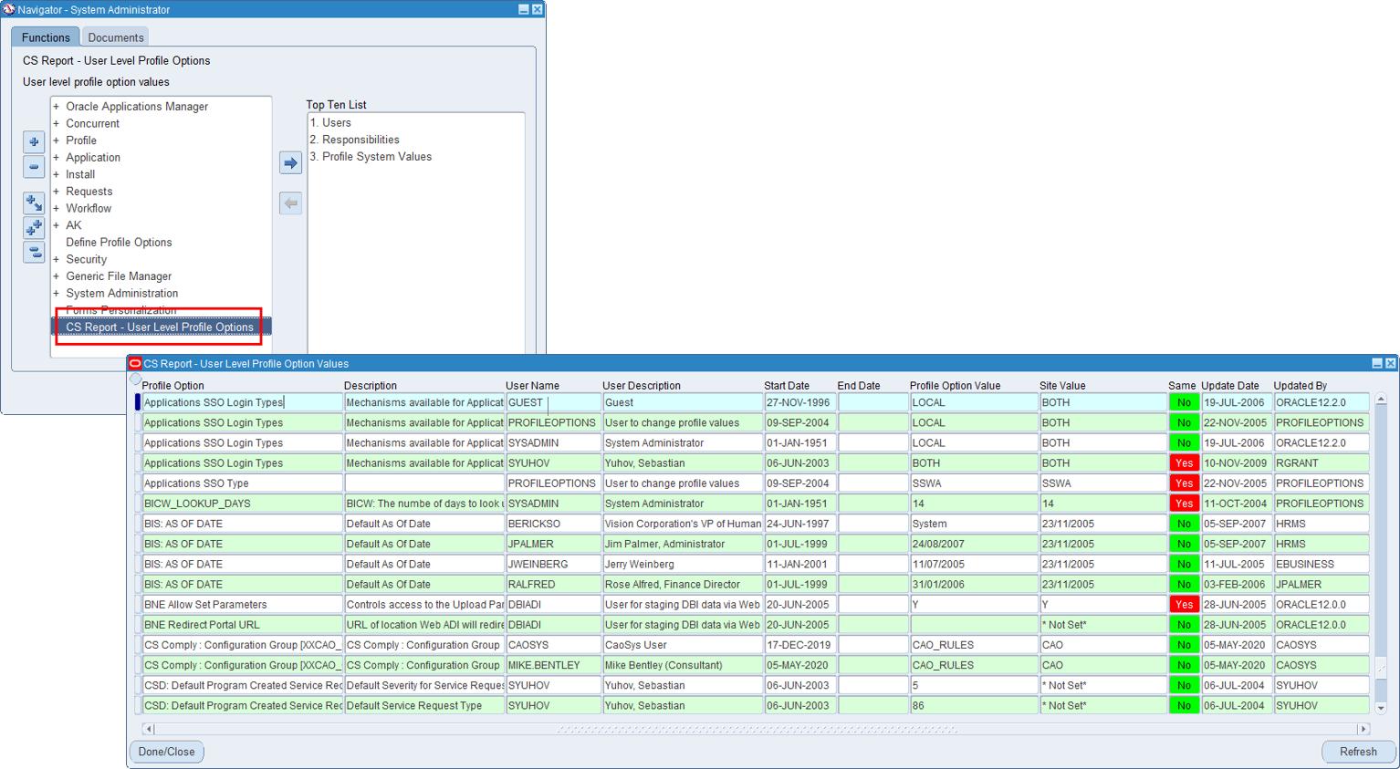 CS Report - Accessing Interactive Screen Based Report via Standard Navigator Menu
